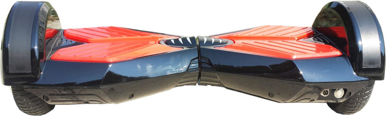 ховърборд 8 инча Черно с Червено изглед отзад
